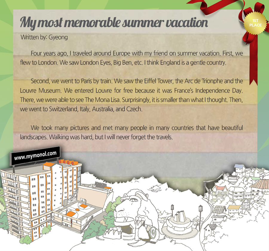 my most memorable summer vacation by gyeong bull monol international ewc gyeong