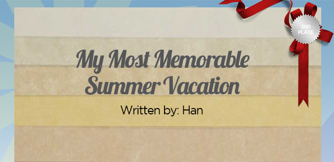 a memorable summer vacation