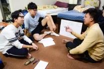 students-teacher-talking