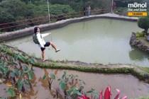 Student posing at Bencab lake