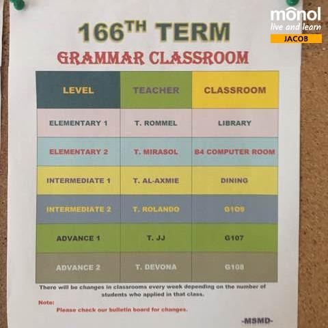 schedule-grammar-class