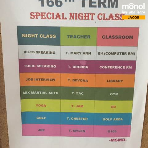 Special-Night-Classes-schedule