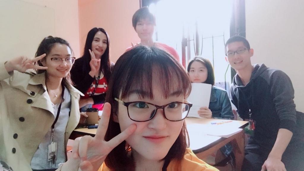 students-selfie-class